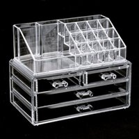 Wholesale Acrylic Cosmetic Organizer Drawers Makeup Case Storage Insert Holder Box High Quality Homestyle Domestic Shipping