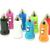Cheap Mini USB Car Charger Adapter Multi color Bullet cigarette lighter Universal Adapter for iphone 4 4S 5 5S 5C 6 6G 6S Galaxy S3 S4 S5 200pc