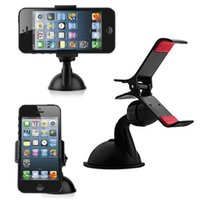 Wholesale Convenient Practical Black Car Holder Stick Stand Frame For IPhone Mobile Phone GPS Mini universal Holder