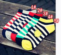 art design college - winter summer new fashion men Stripe ship socks Trend of the socks Pure cotton socks leisure men Sports Socks Pocket design