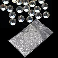 Wholesale mm Glitter Clear Hot Fix Nail Art Rhinestone For Nail Decoration