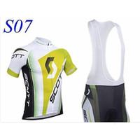 Wholesale factory NEW SCOTT Short Sleeve Cycling Jersey and Cycling Bib Shorts Kit SCOTT Cycling Clothing Set SIZE XS XXXXL S7