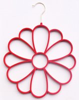 velvet hanger - High Quality and Colorful Flocked Velvet Flower Scarf Hanger pieces