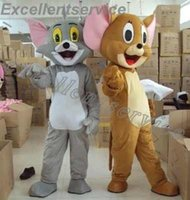 Wholesale High Quality Cat and mouse Tom and Jerry Mascot Costume Popular Cartoon Character Costume For Adult Fancy Dress Party Suit