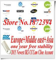 Wholesale free ship EMS M USB CCcam cline IKS account CCcam Server year validity free trial support CCCAM Receiver Europe Free IPTV