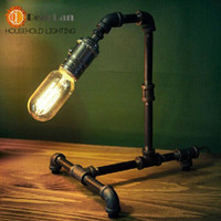 Cheap bronze Water pipe vintage desk lamps,To decorate the study The best choice for the bedroom order<$18no track