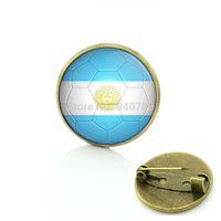 argentina dress - Argentina badge football brooch pins football Fans jewelry Football match sportsman Dress Accessories BP91