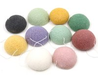 Wholesale Konjac Sponge Puff Natural Fiber Remove Blackheads Konnyaku Sponge Face Deep Cleaning Makeup Wash Pad