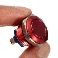 Wholesale 16mm Start Horn Button Momentary Stainless Steel Metal Push Button Switch Red Excellent Quality
