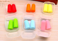 Wholesale Brand new Foam Sponge Earplugs Great for travelling sleeping reduce noise Ear plug randomly color drop shipping