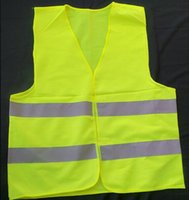 Wholesale Green reflective safety vest coat Sanitation vest Traffic safety warning clothing vest HK88
