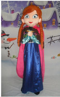 Wholesale New Frozen Ariel Anna Princess CHRISTMAS MASCOT COSTUME for adult size one size fancy dress