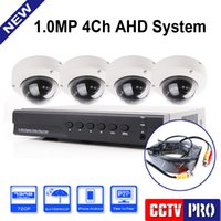 Wholesale 4 Channel P AHD DVR HD AHD M P MP Metal Dome Security Camera Hybrid DVR NVR Kit P HDMI Output System Mobile View