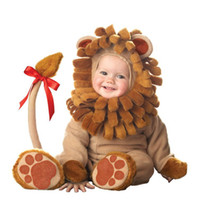 baby costumes lion - Baby Infant lion Costume lovely Children s Cosplay cartoon animals Halloween Xmas party Character Costumes Baby s Lil Lion Costume CY3043