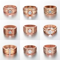 Wholesale 24pcs Mixed Order Fashion Styles Cubic Zirconia K gold plated O Ring Band Rings for men