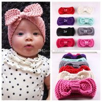 big girl knits - New Baby Girls Fashion Wool Crochet Headband Knit Hairband With Big Bow Winter Newborn Infant Ear Warmer Head wrap