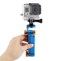 Wholesale Aluminum Foldable Pocket Stabilizer Hand Grip Mount Adapter Holder Monopod for GoPro HD Hero Camera Color Blue