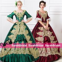 gothic wear - Emerald Ball Prom Quinceanera Dresses For Sweet Formal Wear Corset Masquerade Halloween Gothic Princess Medieval Victorian Gowns