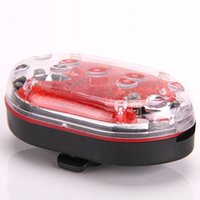 bicycle emergency lights - 9 LED Leds Bike Bicycle Super bright Rear Tail Light cycling outdoor clip barcket emergency Red High quanlity B046