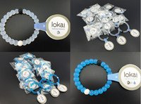 Wholesale NEW Wildlife Lokai Mud from Dead SeaSilicone blue and white wild lokai bracelets Mud for MEN AND WOMEN With Logo Jewelry Colors S M L XL