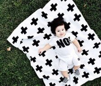 Wholesale 2pcs KIDS Boy Girls Kids Rest Cross Blankets Air Conditioning Blanket Baby Couverture Knitted Blankets Crib Bed Blanket