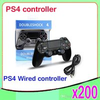 Cheap New arrival wired Doubleshock 4 Wired Controller for PlayStation 4 PS4 Gaming Console gamepad 200 pcs ZY-PS-07