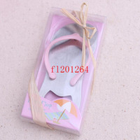 Wholesale DHL New quot Pop the Top quot Flip Flop Bottle Opener Wedding Party Favors Gift For Guest