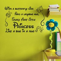 baby poem - With a Butterfly Kiss Poem DIY Baby Nursery Decor Vinyl Art Decal Wall Sticker