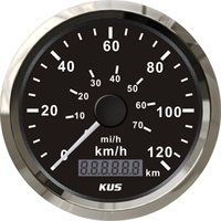 Wholesale 85mm speedometer velometer speedometer km h V V for car truck normal impulse black faceplate