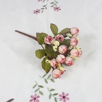 silk peony - Decorative Silk Flowers Mulit Home Display Artificial Peony Flowers And Fake Leaves For Wedding And Party