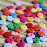 Wholesale 1000pcs Colorful Round Holes Diameter mm Resin Buttons Fashion Accessories hot sell