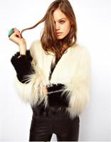 Wholesale High Quality Womens Faux Fur Warm Coat Contrast Colors Rabbit Fur Winter Outwear short overcoat Long Thick Hair Coat WT130