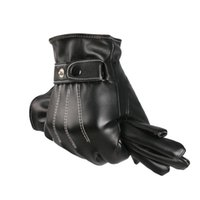 Wholesale FG1509 Men Fashion Gloves Winter Outdorrs Sport Leather Gloves Warm Winstopper Leather Luvas Fitness Mittens Guantes Masculinas T423