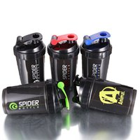PS - BPA free Protein Power Shake ML Spider Protein Shaker In Sports Water Yoga Bottle With Inserted Mixing Ball