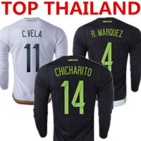 mexico - THAILAND LS MEXICO R MARQUEZ CHICHARITO Soccer Jersey Thailand Quality LONG SLEEVES jersey Free Customized