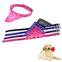 Wholesale Adjustable Flower Printing Pet Dog Puppy Cat Neck Scarf Bandana with Collar Neckerchief Dog hv5n