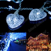 Wholesale 3 M White Hearts LED String Fairy Holiday Lights For Party Xmas Wedding SV007352