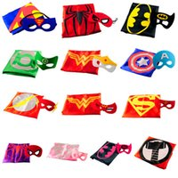 Wholesale superhero with matched mask superman spiderman batman flash Captain America ironman wonderwoman thor spidergirl robin hulk B157