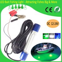 Wholesale Factory Price DC V Green Blue White LM LED Underwater Squid Lure Boat Fish Lights Fishing Lamp
