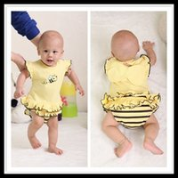 bebe outerwear - New baby girl bodysuits summer honeybee cosplay style bebe outerwear infants custume outfits wearing A