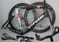 bicycles - 2015 Hot sale Carbon complete bicycle carbon road bike black silver full carbon fiber bike complete bicycle frameset wheels saddle handlebar