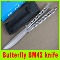 best christmas pack - Butterfly BM42 knife Outdoor survival tatical knife Fan knife New in original packing best christmas gift L