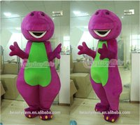 barney cartoon characters - Barney Mascot Costume Adult Unisex Cartoon Character Mascot Costumes Custom Made D0715