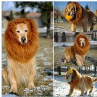 Wholesale Pet Costume Cat Halloween Clothes Fancy Dress Up Lion Mane Wig For Dogs Festival Dress Up