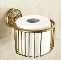 artistic wall paper - Artistic Toilet Paper Basket Wall Mount Bathroom Paper Tissue Holder Antique Brass Finish