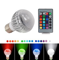 led ic - 2015 New IC Module Color Changing W Globe Ball Bulb RGB LED Lights Lamp E27 B22 With Remote Control Free Drop Shipping