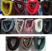 knit circle scarf - New Fashion Unisex Women Men s Winter Knitted Circle Loop Cowl Infinity Scarf Snood Scarves Wraps JJAL ZS40