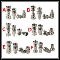 Wholesale Domeless Interchangeable Titanium Nail in in in Male and Female Joint Gr2 Titanium Nail Ti nail