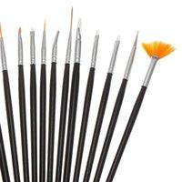 big paint brush - Big Promotion Acrylic Nail Art Design Painting Pen Brush Set