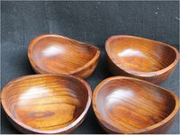 Wholesale 4pcs Natural Wooden seeds fruit bowl snacks fruit plate small bowl bassie boat